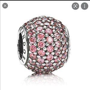 Pandora Pavé Lights Pink Charm